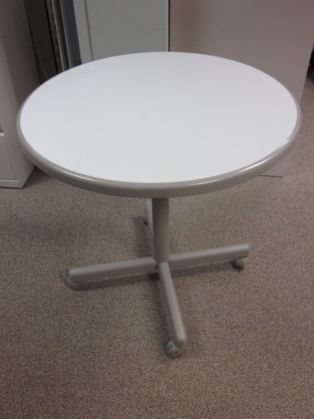 Used Office Conference Tables Haworth Mobile Round Table At - Haworth conference table