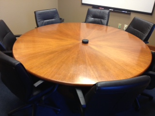 Used Office Conference Tables Round Cherry Veneer Conference - 6 ft conference table