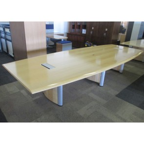 Used Office Conference Tables Nienkamper Vox Maple Veneer At - Vox conference table