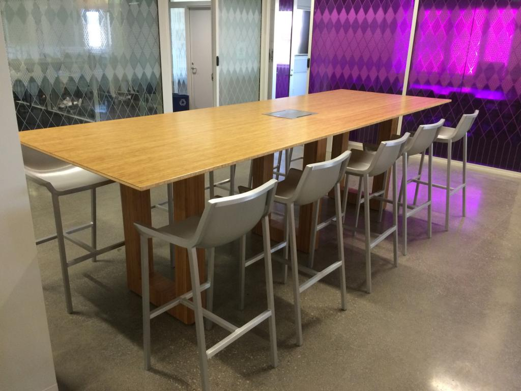 New Office Conference Tables New Bamboo Bar Height Conference - Conference table power center