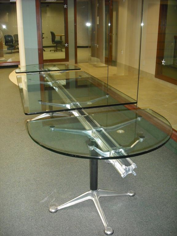 Used Office Conference Tables Herman Miller Burdick Group - Oval glass conference table