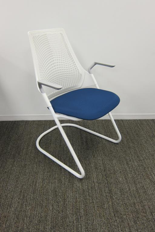 used office chairs herman miller sayl side chairs with sled base
