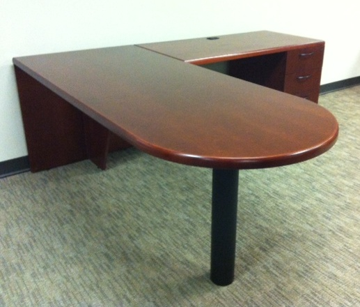Used Office Desks Kimball Lshaped Office Desks At Furniture Finders - L shaped conference table