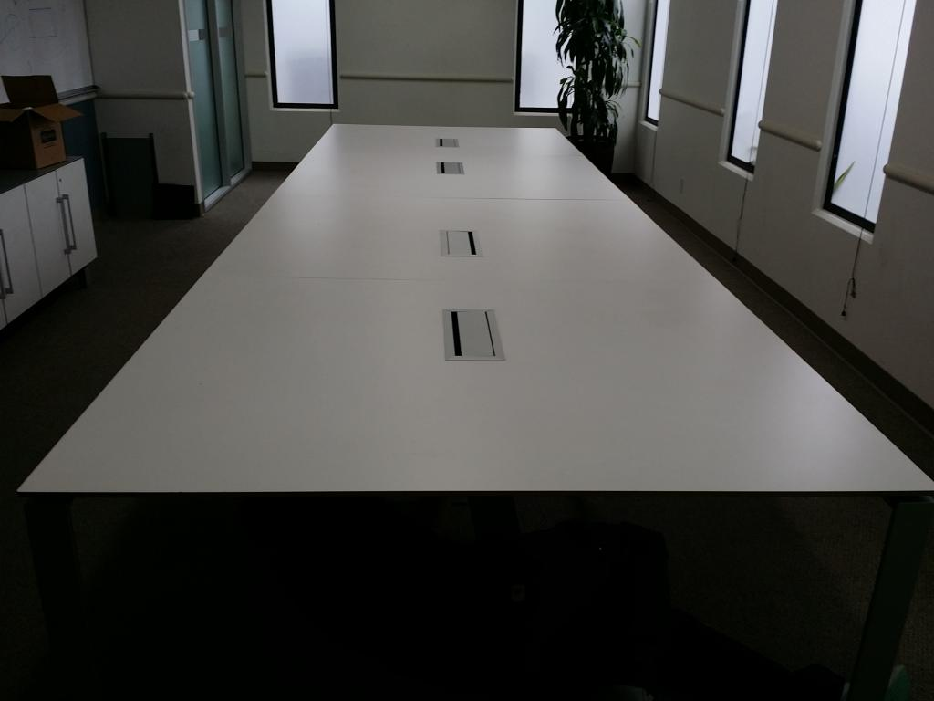 Used Office Conference Tables White Laminate Conference Table - White laminate conference table