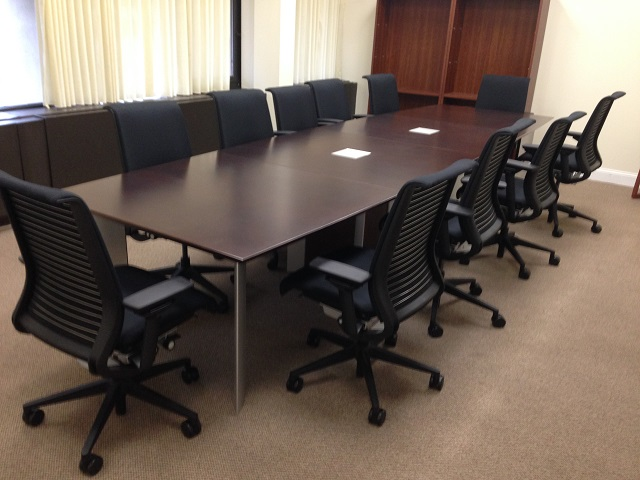 Used Office Conference Tables Foot Used Krug Conference Table - 14 foot conference room table