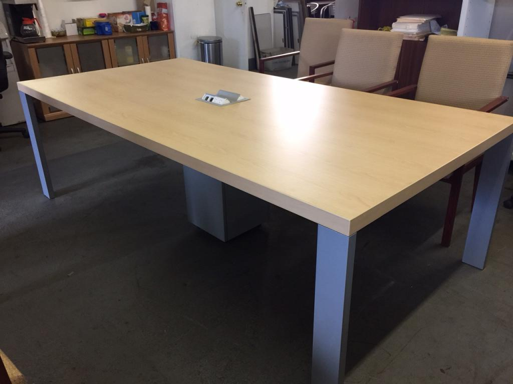 Used Office Conference Tables CONFERENCE TABLE W GROMMETS By - Conference table grommet
