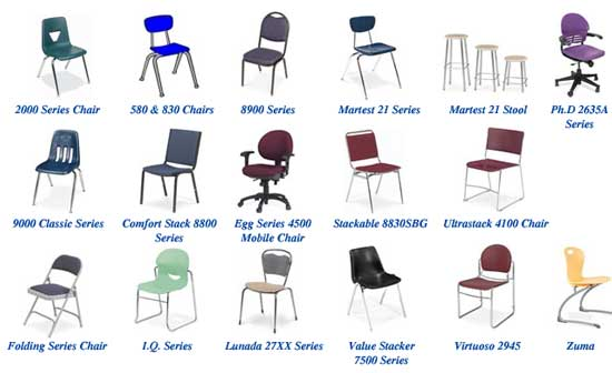 Listing Image  sc 1 st  at FurnitureFinders & New Office Parts and Accessories : Virco Chair Parts at Furniture ...