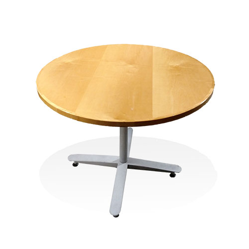 Used Office Conference Tables Steelcase Inch Round Veneer Table - 36 inch round conference table