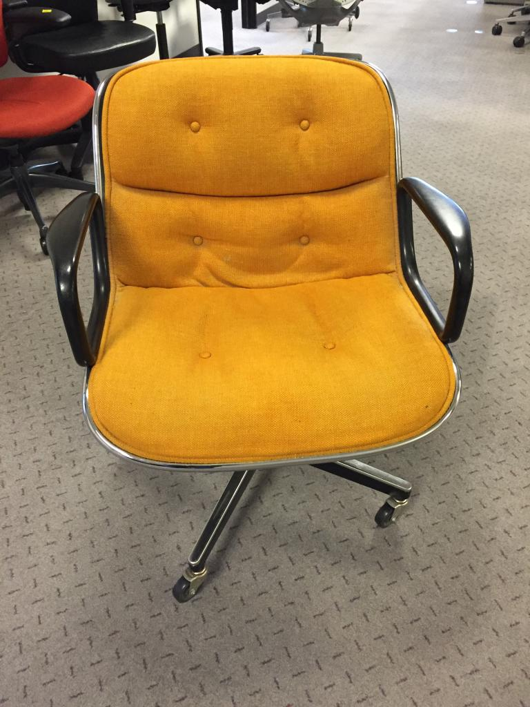 Used Office Chairs Vintage Knoll Pollock Chair Mustard At Furniture Finders