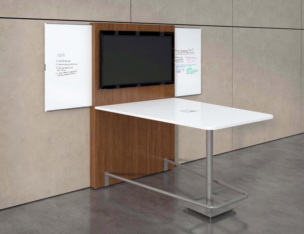 New Office Reception Area Standing Bar Height Conference Room - Standing height meeting table