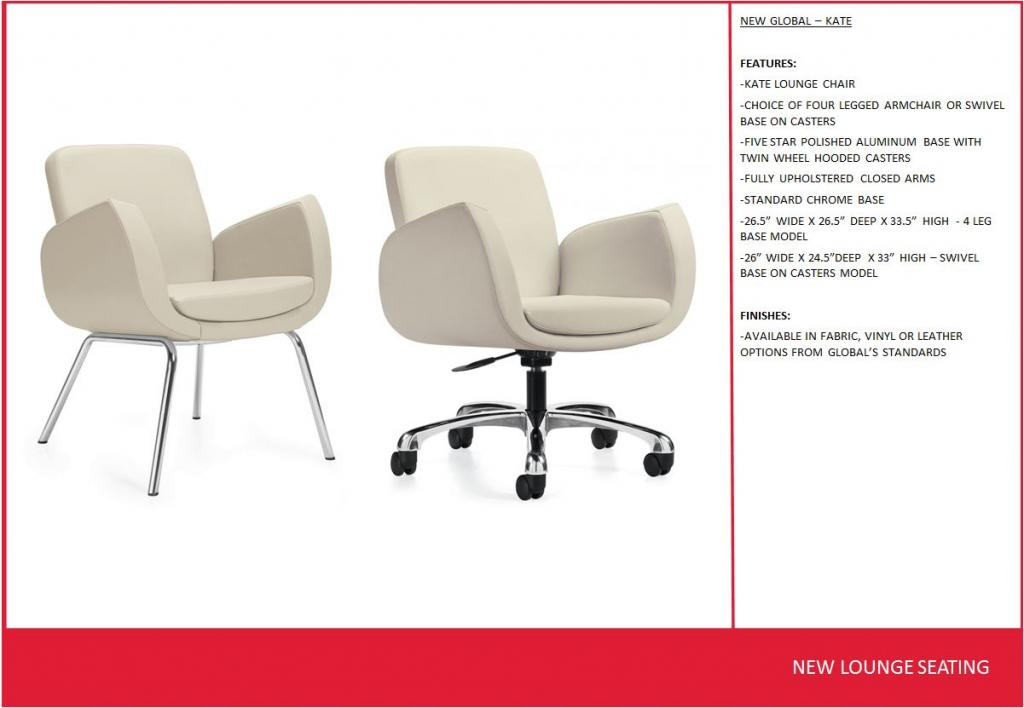 Marvelous New Office Chairs Global Kate Series Lounge Chairs At Ocoug Best Dining Table And Chair Ideas Images Ocougorg