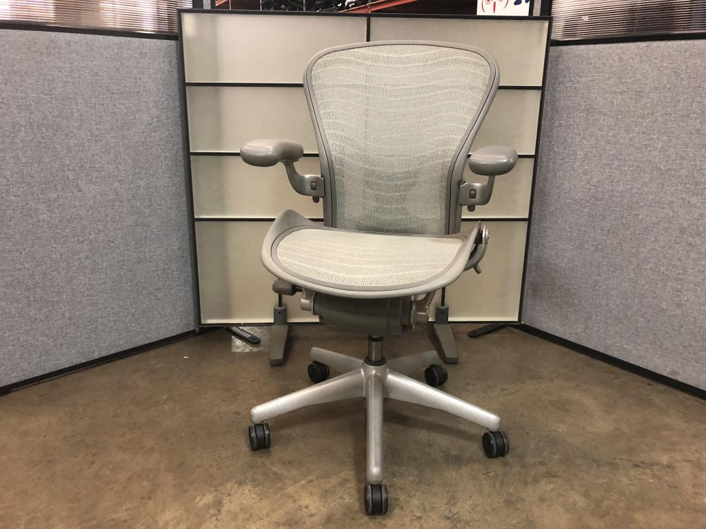 Used Office Chairs : Herman Miller Aeron Platinum Chair at