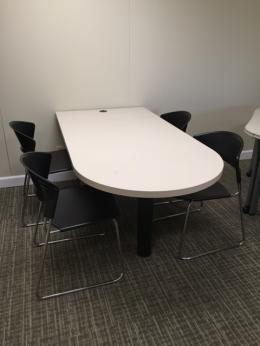Used Office Conference Tables Steelcase Bullet Top Tables At - D shaped conference table