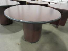 Used Office Conference Tables Hon Mahogany Round Conference Table - Hon round conference table