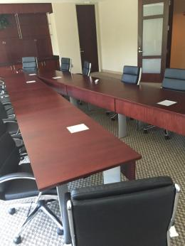 Used Office Conference Tables VShaped Wood Conference Table At - V shaped conference table