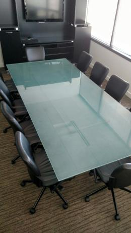 Used Office Conference Tables Glass Top Conference Table At - Small glass conference table