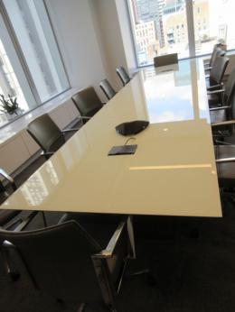 Used Office Conference Tables Foot Decca White Glass Conference - Small glass conference table