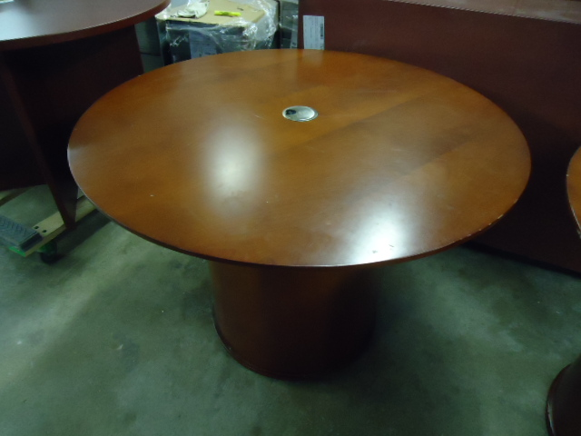 "42"" Round Conference Table, Veneer - click to see full size photo"