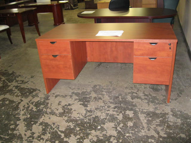 30 x 60 Cherry Laminate Desk - click to see full size photo