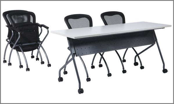 New office conference tables flip top nesting