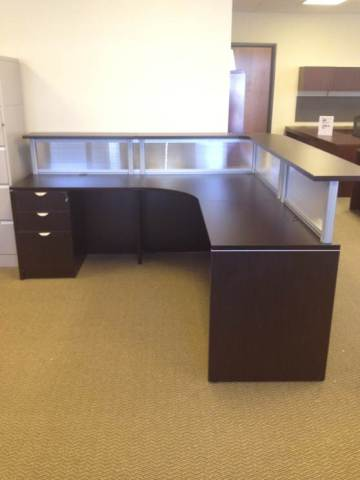 New Office Reception Area Reception Desk With Glazed