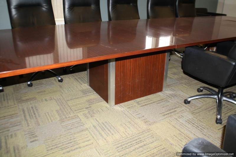Used Office Conference Tables 20 Foot Cherry Rectangular