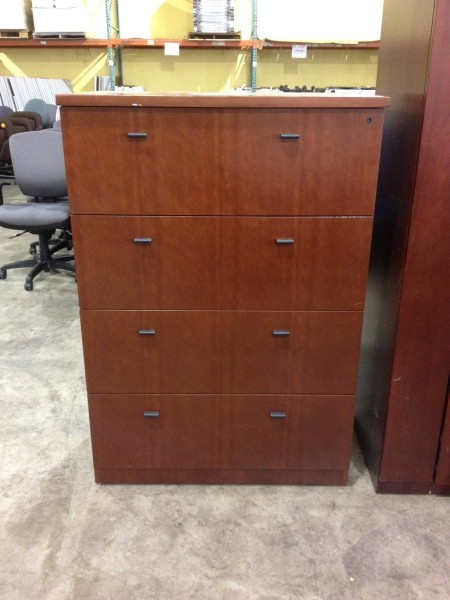 Used Office File Cabinets Wood Four Drawer Lateral Files
