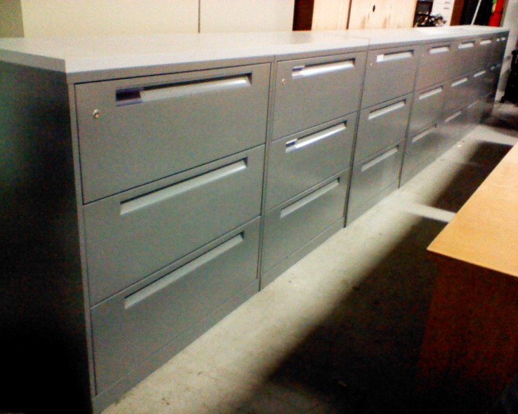 Refurbished Office File Cabinets Used In Long