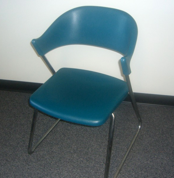 Used Office Chairs Albi Plastic Side Chair Teal At