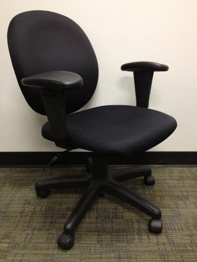 Used Office Chairs Corporate Express Black Fabric Task
