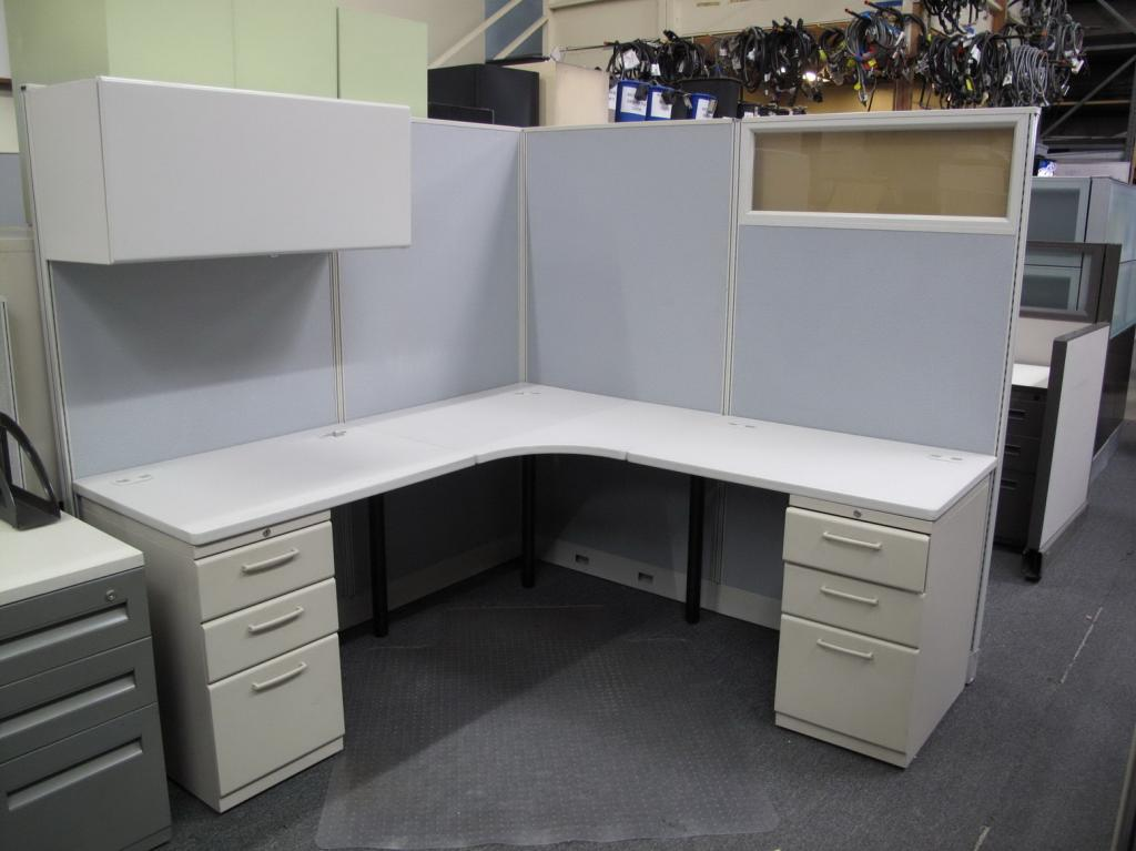 used office cubicles hon 6x6 67 tall workstations at