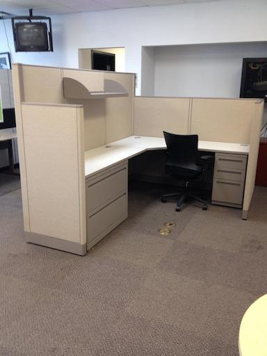 Used Office Cubicles Mixed Height Allsteel Concensys Cubicles At Furniture