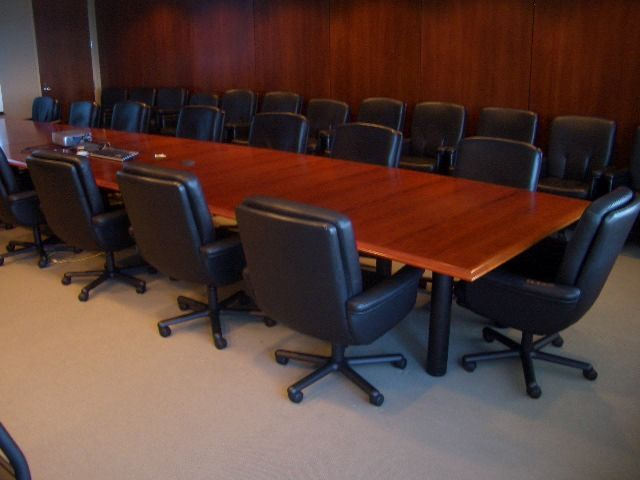 Used Conference Tables: 24 ft Vecta Conference Table - click to see full size photo