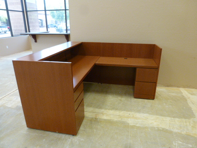 Used Office Reception Area Knoll Reff Cherry Reception