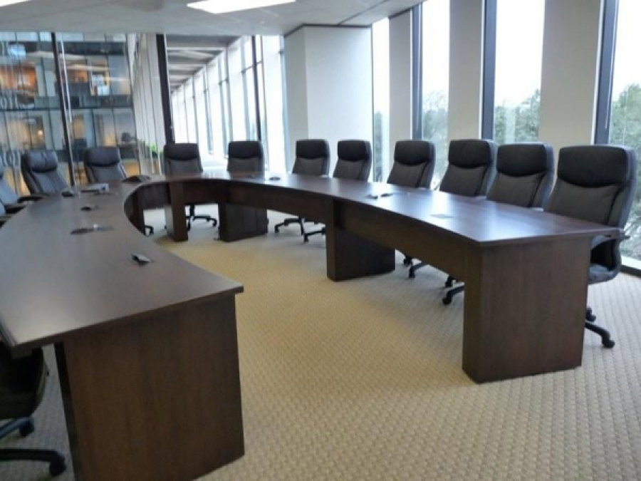 new office conference tables : custom horseshoe or u shaped table ...