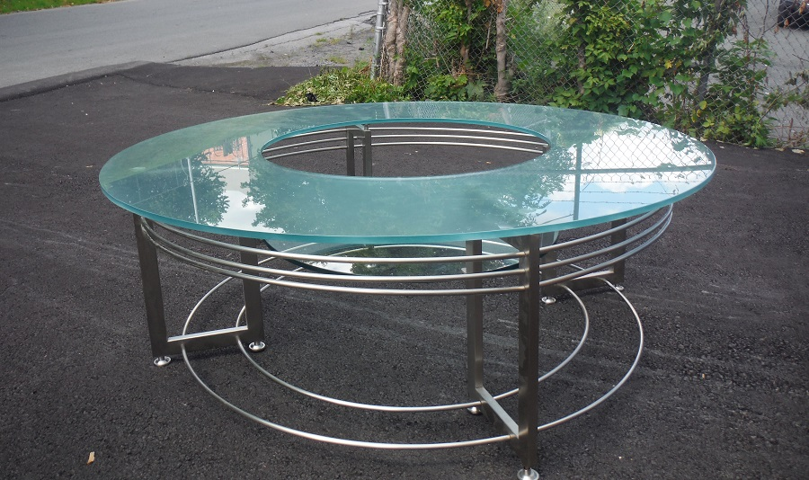 Used office conference tables round glass coffee table at furniture finders Used glass coffee table
