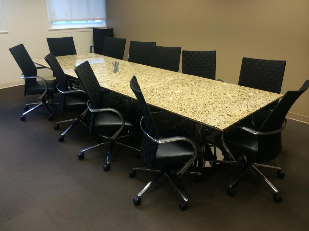 Used office conference tables 12 39 custom marble top for 12 conference table