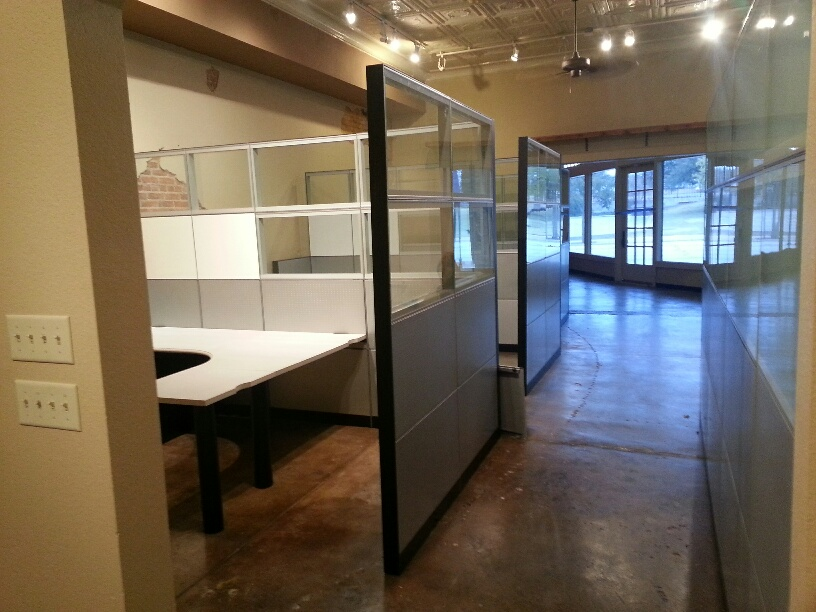 Used Office Cubicles Steelcase Montage Glass Privacy At Furniture Finders