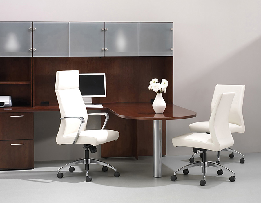 Used Office Chairs New Jsi Leather Conference Chair At