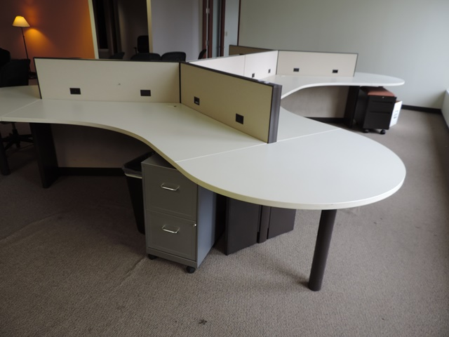 Used Office Cubicles Allsteel Terrace 27 Workstations At