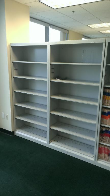 Used Office File Cabinets Hon 6 Shelf Open File End Tab Medical Shelves At Furniture Finders