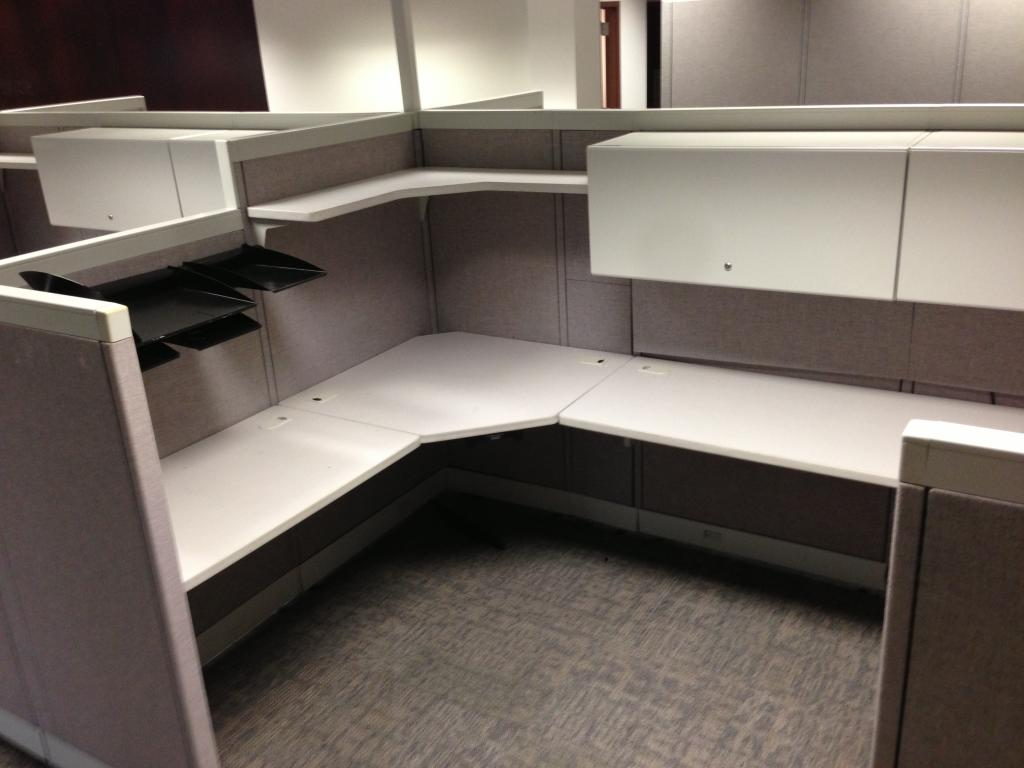 Used Office Cubicles Hi Lo Allsteel Consensys At Furniture Finders