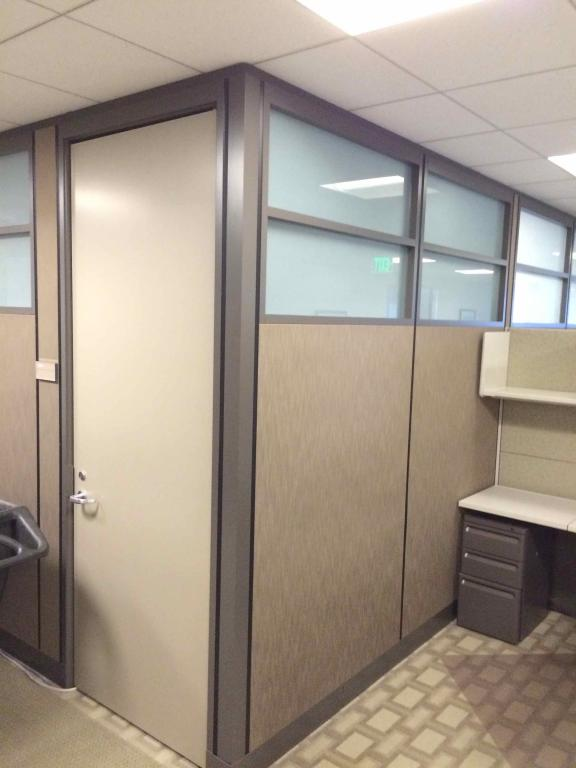 Used fice Cubicles 8X12 Floor to Ceiling Private offices at