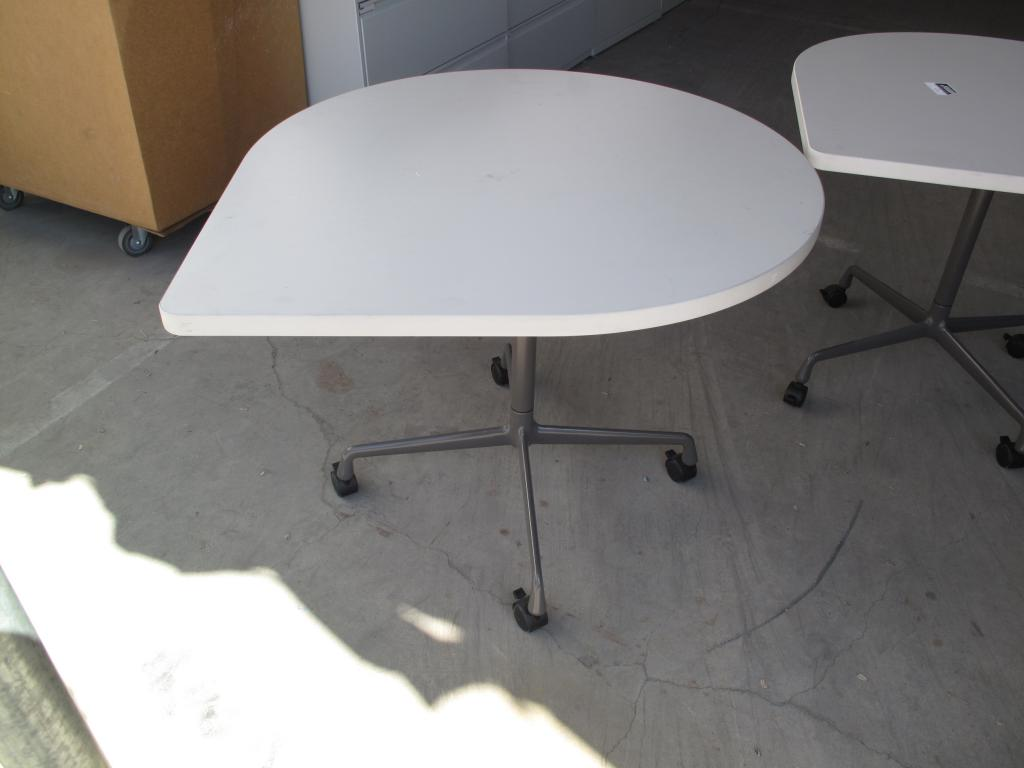 """Used fice Conference Tables 36"""" Round Corner Table """"Teardrop"""