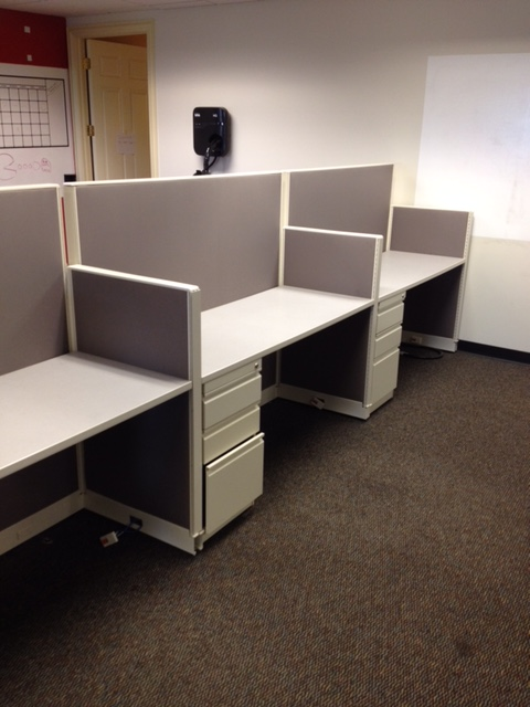 Used Office Cubicles Trendway Call Center Workstations