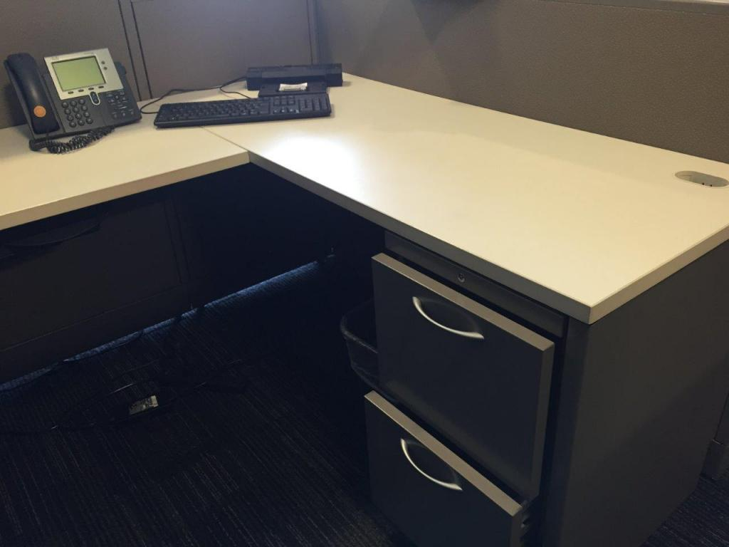 Used Office Cubicles Neutral Used Mid Height Allsteel Concensys At Furnitur