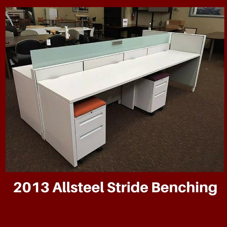 Used Office Cubicles Used Benching Allsteel Stride At Furniture Finders