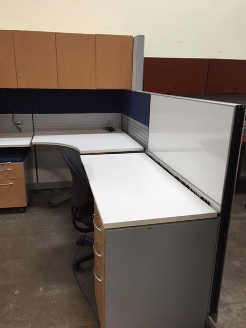 Used Office Cubicles Used Allsteel Workstation With Sit To Stand At Furnitu