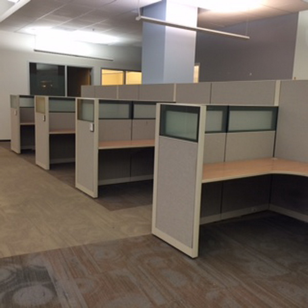 Used Office Cubicles AllSteel Office Cubicles With Glass In LA At Furniture