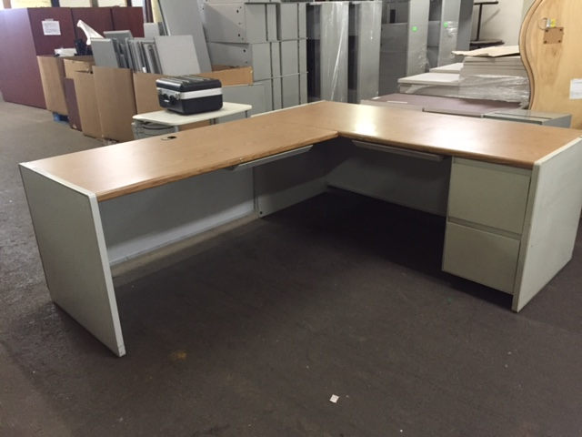 Used Office Desks Steelcase 9000 Metal Desk At Furniture